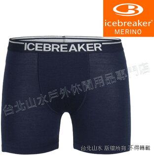 Icebreaker羊毛內褲四角內褲排汗內褲BF150Anatomica103029-401男海軍藍