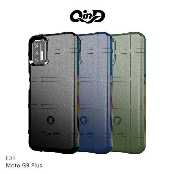【愛瘋潮】免運  保護套 QinD Moto G9 Plus 戰術護盾保護套 背蓋式 手機殼 鏡頭加高 軟殼 保護殼