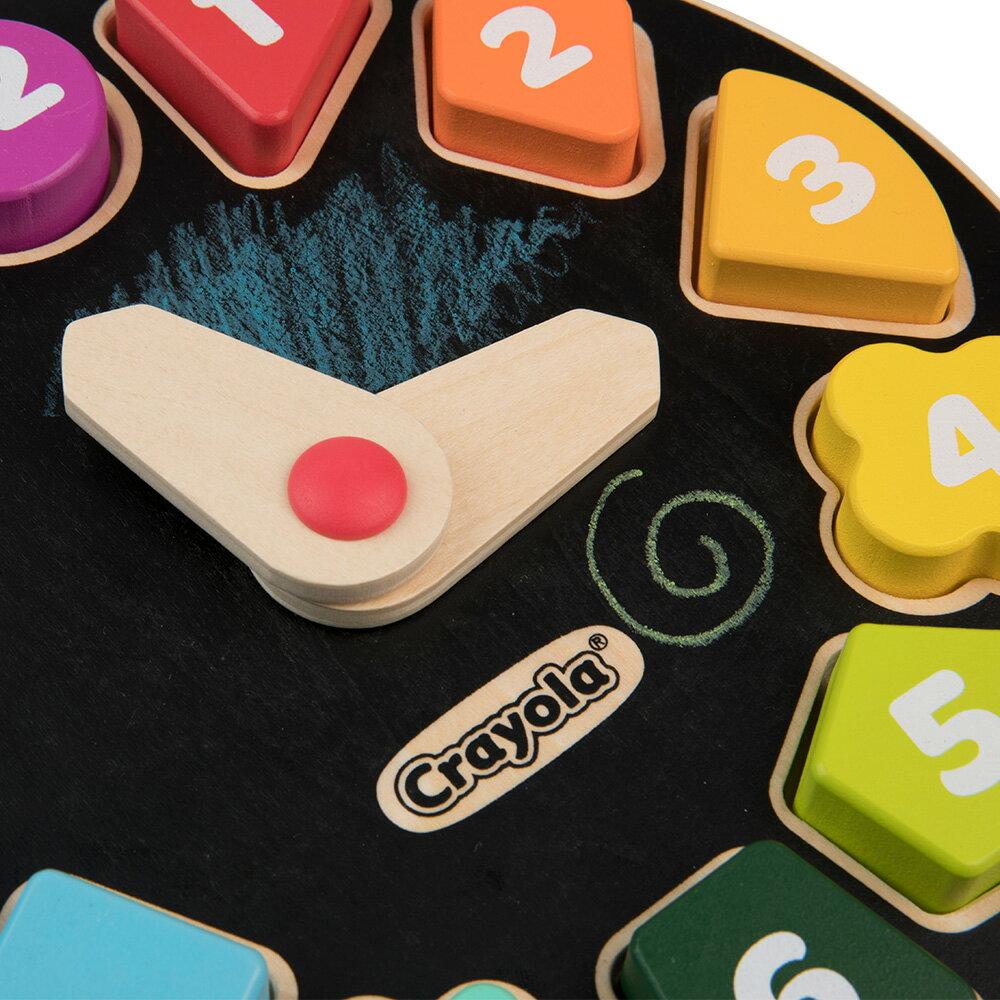 Crayola 早教創意啟蒙趣味塗鴉時鐘木拼圖 2