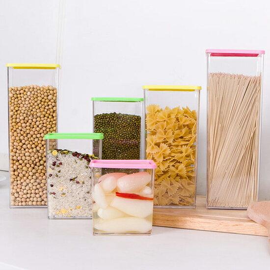 ?MY COLOR?彩蓋疊加儲物罐(615ML) 廚房 食物 食品 五穀 雜糧 涼拌 料理 透明【N45】