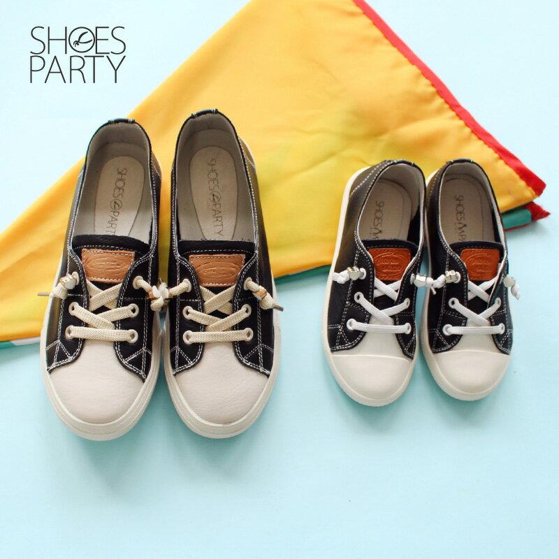 童鞋【FK-18203L】內建鬆緊帶,軟牛皮愛心結休閒鞋_Shoes Party 2