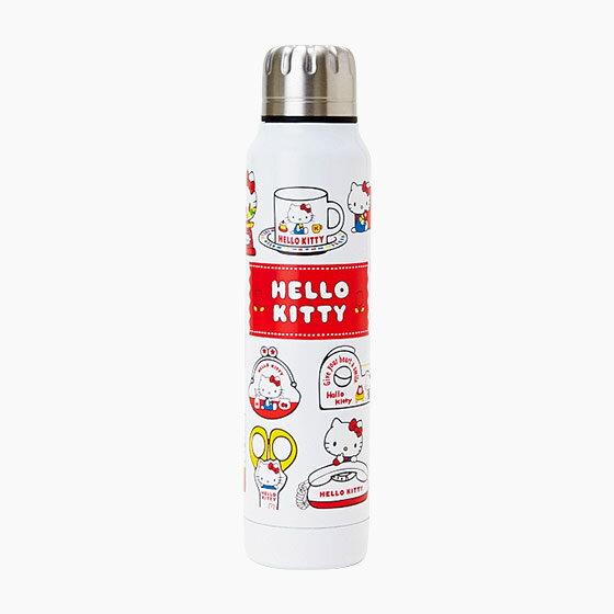 【真愛日本】17072100002 不鏽鋼保溫冷壺300ml-KT懷舊紅+AAZ 三麗鷗 Hello Kitty 凱蒂貓 水壺 茶壺 水瓶