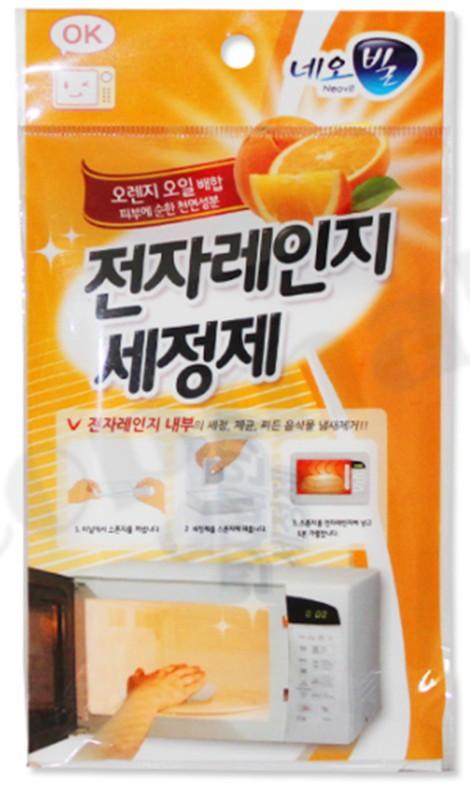 韓國 Microwave Cleaner 微波爐/水波爐 專用蒸氣清潔劑 (海綿+清潔劑15g)