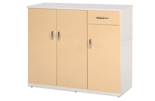 石川家居:【石川家居】864-03(鵝黃白色)鞋櫃(CT-314)#訂製預購款式#環保塑鋼P無毒防霉易清潔