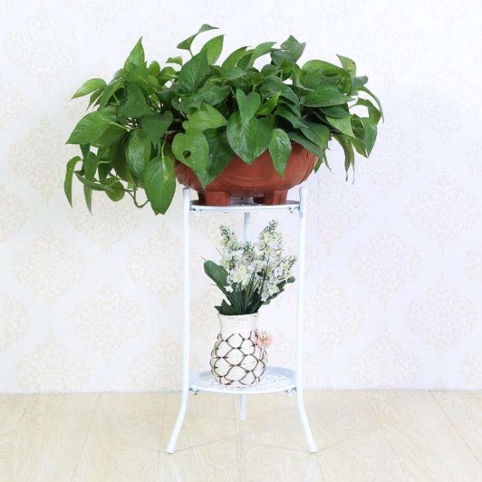 花架 歐意朗多層鐵藝花架落地客廳陽台室內花盆架簡約歐式綠蘿吊蘭花架jy