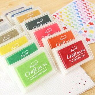 crystal Craft 彩色印泥 (15色可挑色) 油性防水彩色印泥 印泥盒【N100462】