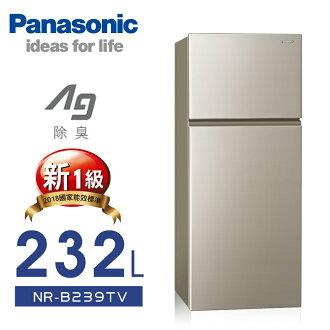 【Panasonic 國際牌】232L變頻無邊框雙門電冰箱/亮彩金NR-B239TV-R