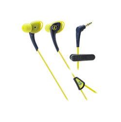 鐵三角 audio-technica ATH-SPORT2 深藍黃 運動型耳塞式耳機 (鐵三角公司貨)