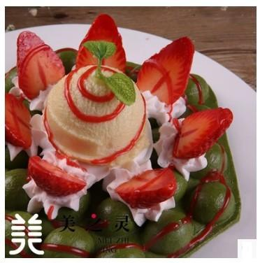 仿真草莓冰淇淋抹茶雞蛋糕模型