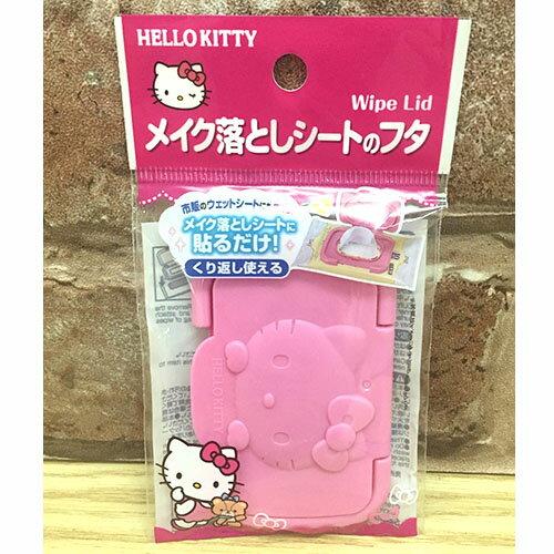 【真愛日本】17041500003 迷你濕紙巾蓋-KT立體臉 三麗鷗 Hello Kitty 凱蒂貓 濕紙巾蓋 嬰兒用品