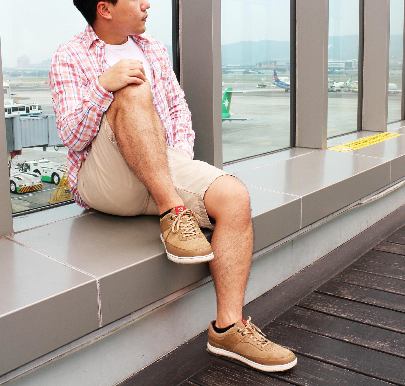 【KILDARE 85折】KILDARE 綁帶休閒鞋 淺咖啡 男 慢跑休閒 5