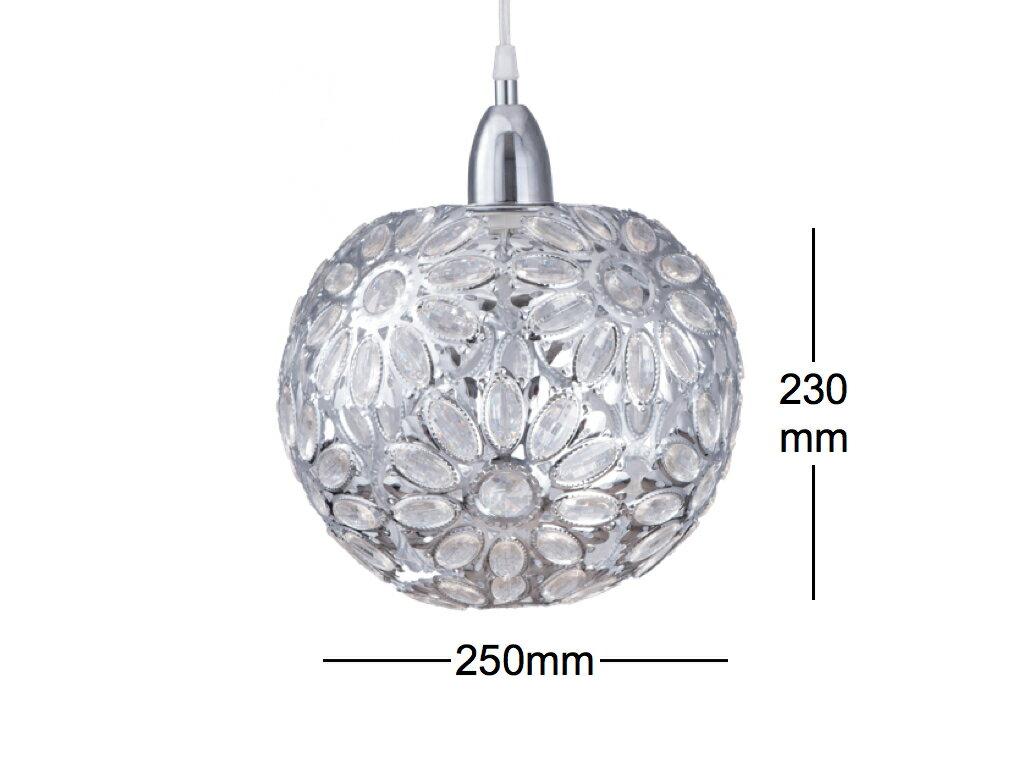 鍍鉻波斯蘭菊吊燈-BNL00086 4