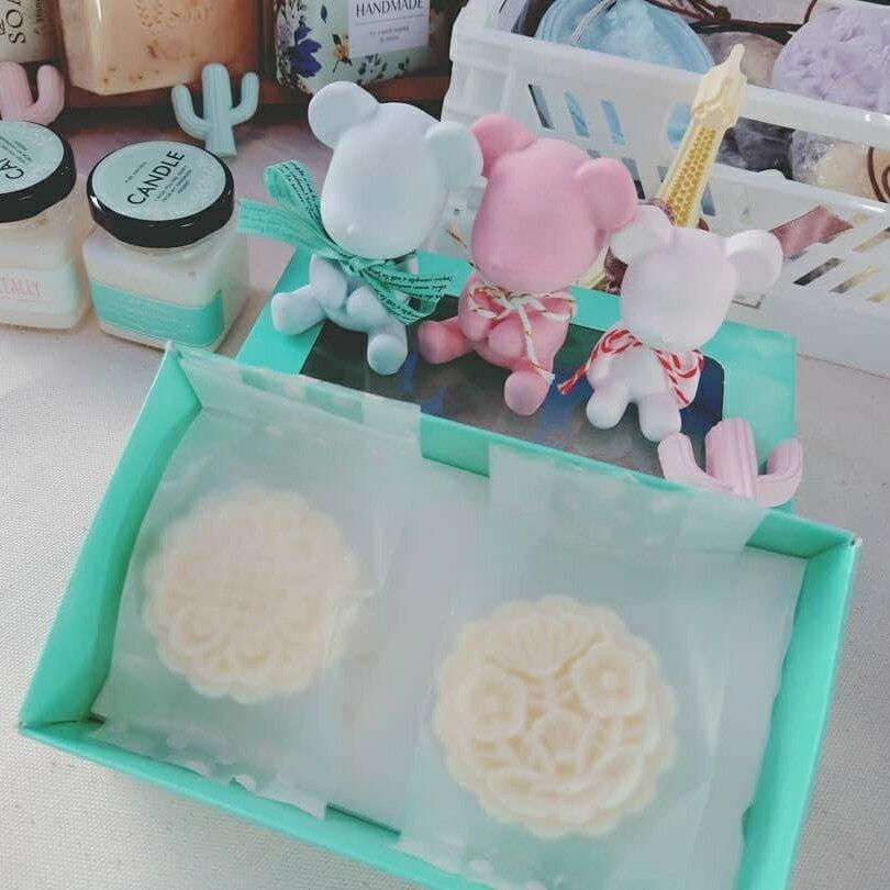 ~貞手作~月餅皂 季節限定 皂 中性  油性  乾性 草本 冷製皂 一盒2入