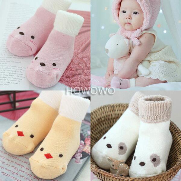 加厚款寶寶襪 卡通防滑短襪 嬰兒襪 童襪(0-4歲) CA1179 好娃娃