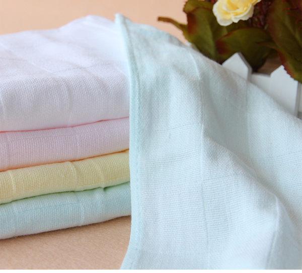 紗布小方巾 嬰兒紗布洗臉巾 手帕 餵奶巾(3條入) RA01415