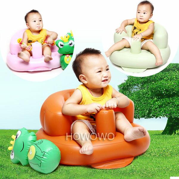 幫寶寶學坐椅 多功能嬰兒充氣小沙發 餐椅RA1343 好娃娃