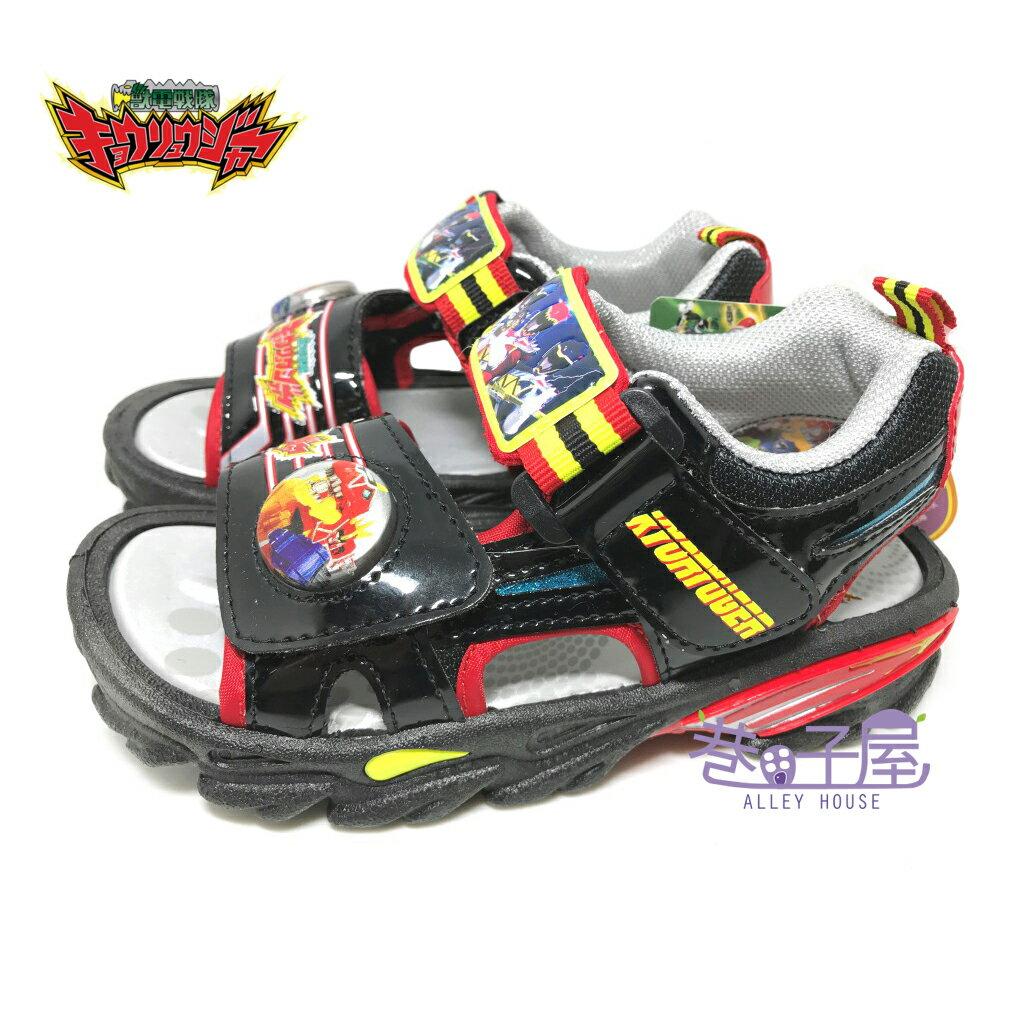 【巷子屋】獸電戰隊 男童電燈造型運動涼鞋 [50400] 黑紅 MIT台灣製造 超值價$198