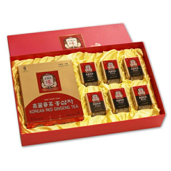 正官庄禮盒 【高麗蔘茶+高麗蔘精x6】