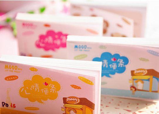 【省錢博士】韓國文具卡通心情便條本 / 可愛迷你心情便簽本彩頁 / 隨機出貨 6