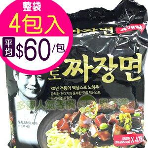 韓國八道 金炸醬麵 附炸醬調理包 -泡麵- (袋裝4包入) [KR207A]
