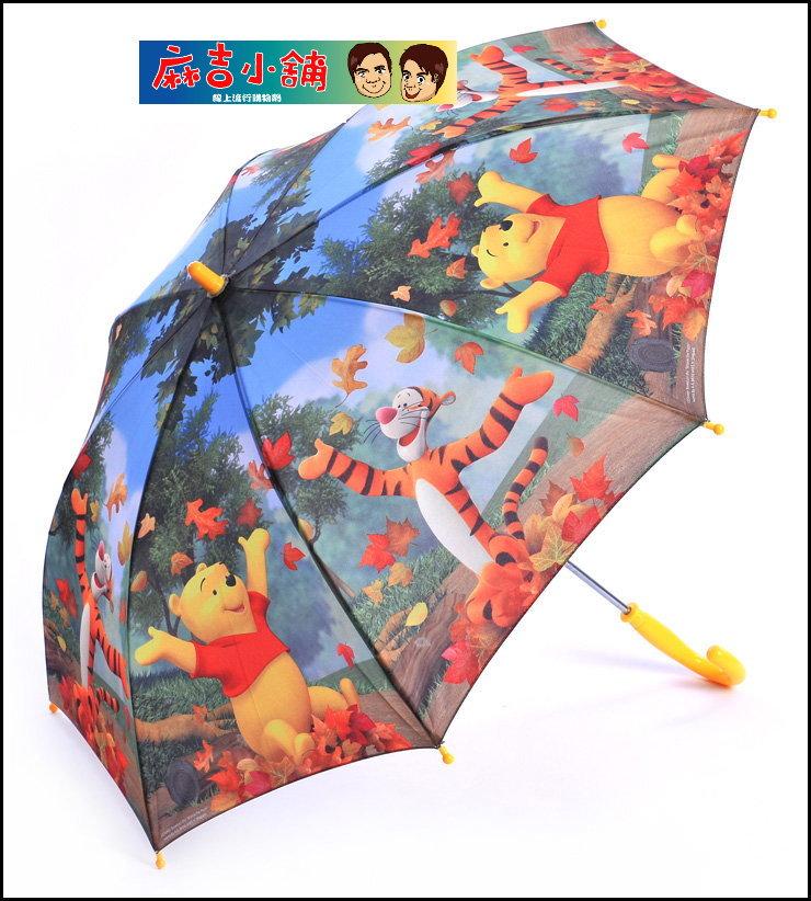 2012年新款 迪士尼兒童傘/雨傘/直傘D150BP-軍綠色維尼熊跳跳虎款
