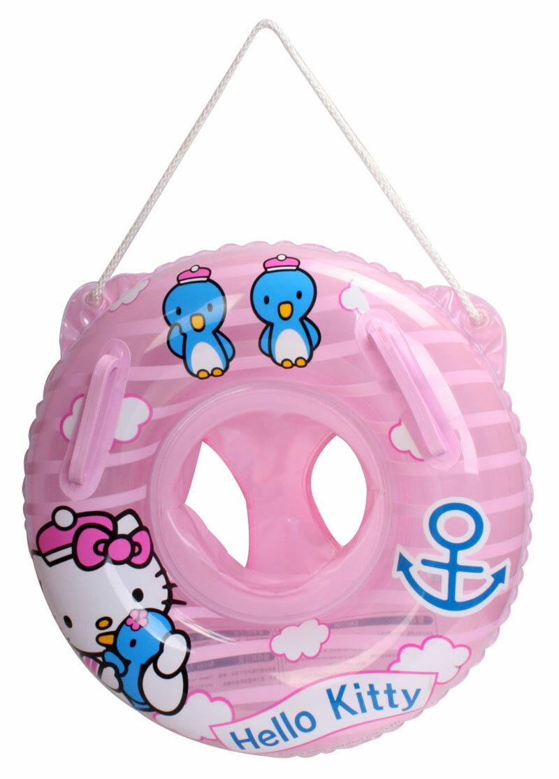 正版Hello Kitty 凱蒂貓 兒童圓型坐圈 游泳圈 -粉色款/單售