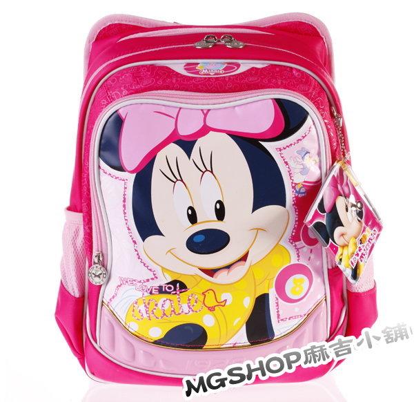 正版Disney 迪士尼 小學生書包 健康護脊後背包MB0186B-粉色款/單售
