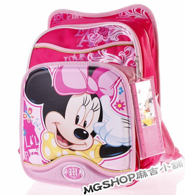 正版Disney 迪士尼 小學生書包 健康護脊後背包MB0187B-粉色款/單售