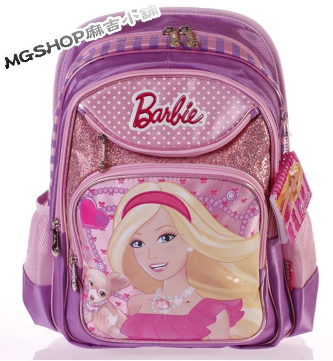 正版Disney 迪士尼芭比公主 小學生書包 健康護脊後背包BB0156-紫色款/單售
