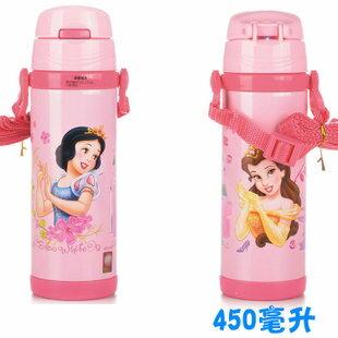 Disney 迪士尼 不鏽鋼水壺/軟管兒童水壺450ML(粉色公主款5763)單售