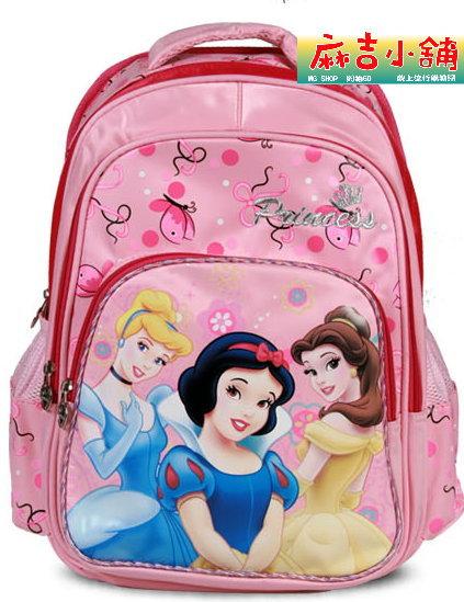 正版Disney 迪士尼公主系列 小學生書包 健康護脊後背包SP90138-粉色款/單售