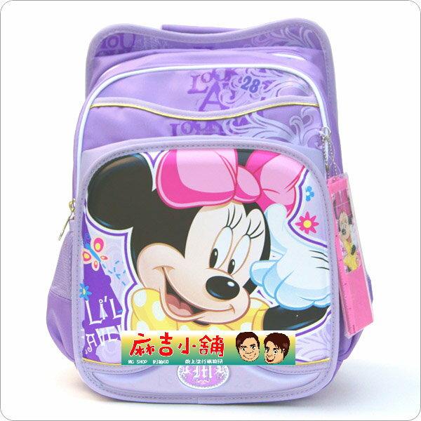 正版Disney 迪士尼 小學生書包 健康護脊後背包MB087-紫色米妮款/單售
