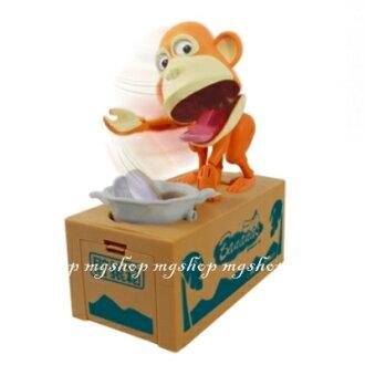 日本原裝 超人氣儲犬箱第二彈 吃錢猴子儲錢筒 儲猿箱 吃錢猿箱 存錢筒(淺棕色)