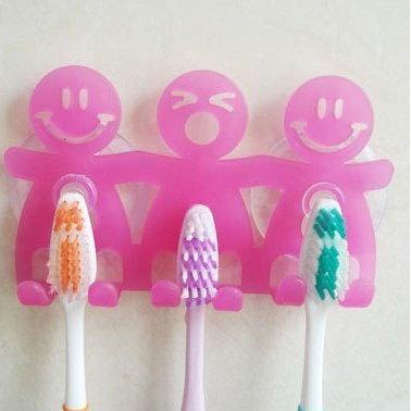 創意生活 三口之家牙刷掛/牙刷架/牙刷伴侶/牙刷座