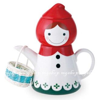 日本進口SUNART TEA FOR ONE小紅帽 杯茶壺組