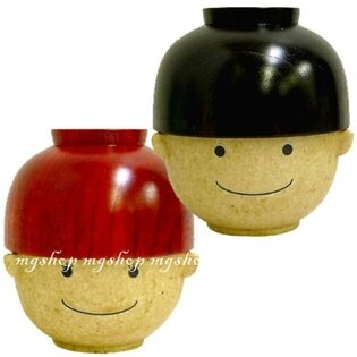 日本原裝SUNART表情造型吃飯碗湯碗-夫妻.情侶款(2入)san1717