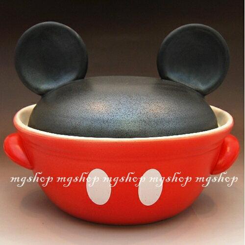 日本原裝 迪士尼 米奇造型砂鍋san-1815 (日本製)3.2L