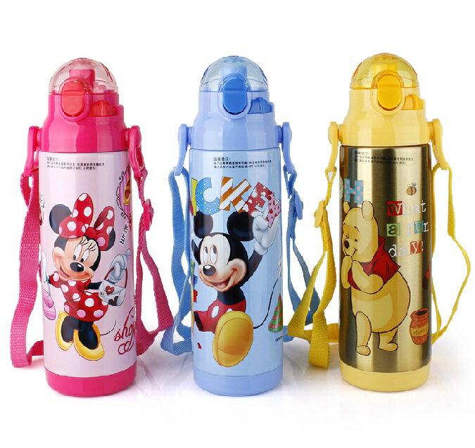 新款Disney 迪士尼 直飲不鏽鋼真空保溫水壺/保溫壺380ML (米妮/公主/米奇/維尼款)單售/BMliving