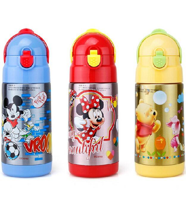 新款Disney 迪士尼 吸管不鏽鋼真空保溫水壺/保溫壺320ML(米妮/公主/米奇/)單售