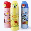新款Disney 迪士尼 直飲不鏽鋼真空保溫水壺/保溫壺送杯套500ML(5721米妮/公主/米奇/維尼)單售