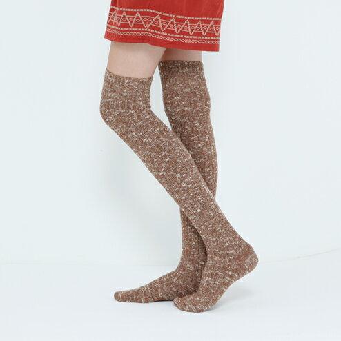 日韓系羊毛襪抽條顯瘦粗線羊毛長筒高筒過膝襪 女士大腿襪 加厚-5色/單售