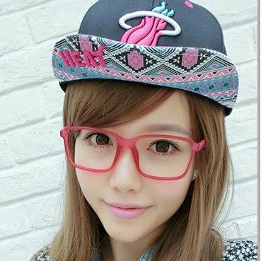 日韓歐美配件造型 方框大框眼鏡架 平光眼鏡 男女適用-5色