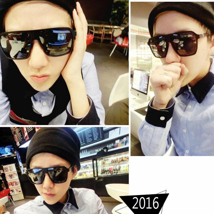 日韓歐美配件造型 大黑方框 太陽眼鏡 男女適用-6色