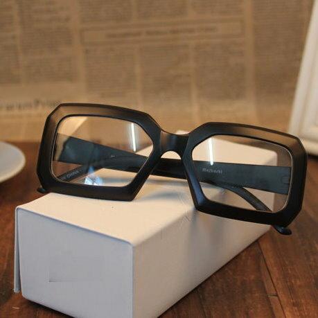 日韓歐美配件造型 平光眼鏡超大框方框框 男女適用 眼鏡架-7色