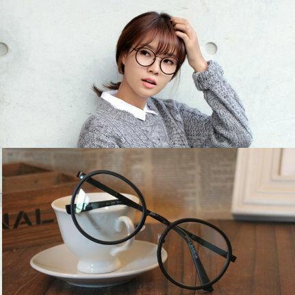 日韓歐美配件造型 圓形可愛框 男女適用 眼鏡架-3色