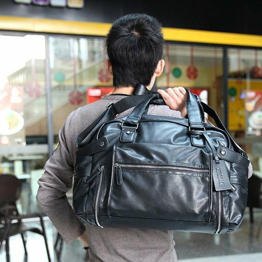 男士包包手提包單肩包購物大包旅行皮包行李包