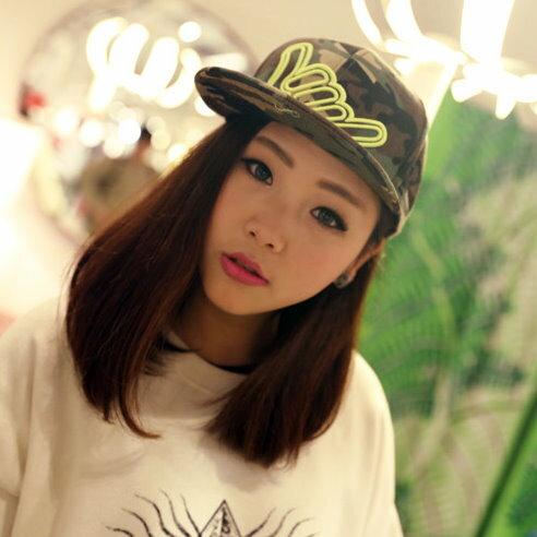 日韓春夏季新品街舞嘻哈HIPHOP棒球帽平沿帽迷彩棒球帽bboy男女適用M22