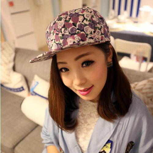 日韓春夏季新品街頭潮人帽平沿帽棒球帽豹紋螢光系M20男女適用