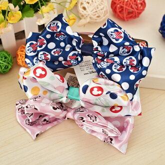正版Disney迪士尼米妮兒童髮飾頭飾蝴蝶結頭發箍/4色