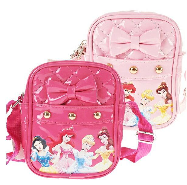 正版 迪士尼公主 斜背包 外出小方包 菱格紋蝴蝶結款-2色
